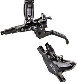 Shimano Shimano, Deore BL-M6100 / BR-M6100, MTB Hydraulic Disc Brake, Front, Post mount, Disc: Not included, Black