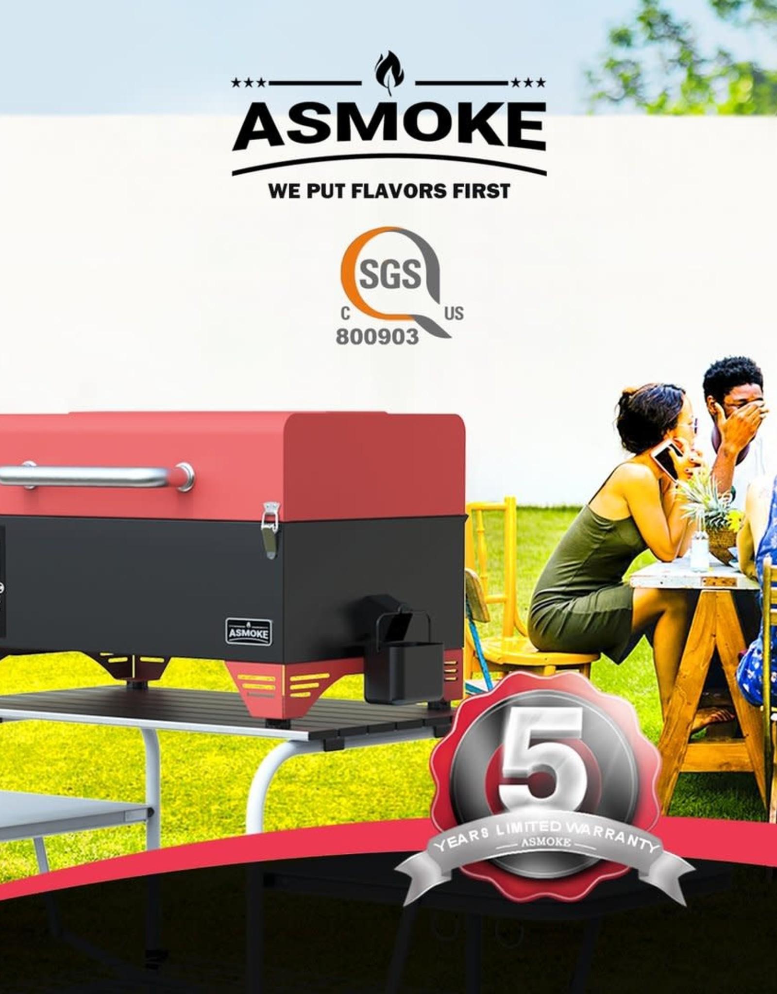 ASMOKE ASMOKE - AS300 PORTABLE PELLET GRILL ( RED )
