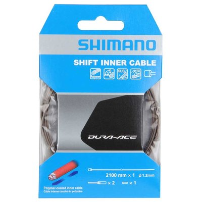 Shimano Shimano, Shift cable, Polymer coated stainless steel, 1.2x2100mm, Road, Unit