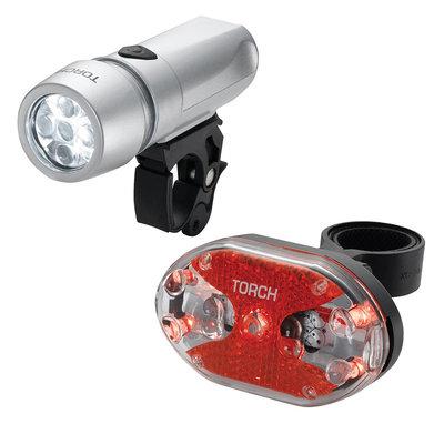 Torch Torch, Cycle Light Set, High Beamer White 5X + Tail Bright 5X, Light set,