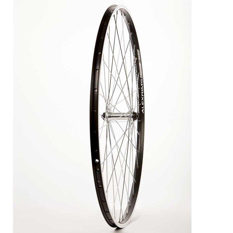 Wheel Shop 700 Front Rim Brake, QR Black, Alex Ace17 Black/ Formula FM-21-QR, Wheel, Front, 700C / 622, Holes: 36, QR, 100mm, Rim