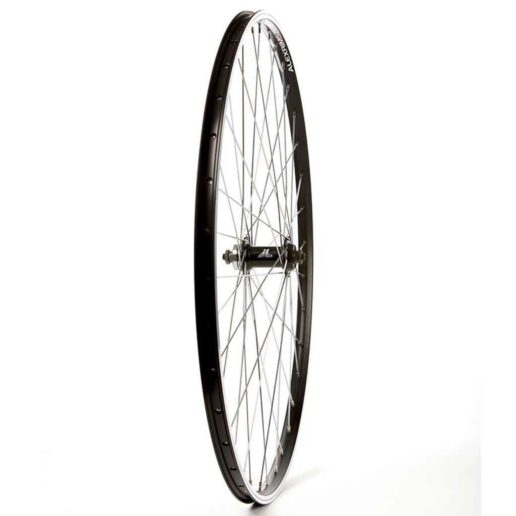 Wheel Shop Wheel Shop, Alex Ace17 Black/ Joytech D851 SE, Wheel, Front, 700C / 622, Holes: 36, QR, 100mm, Rim and Disc IS 6-bolt
