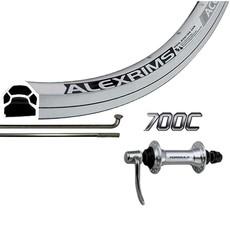 Wheel Shop Wheel Shop, Alex Ace17 Silver/ Formula FM-21-QR, Wheel, Front, 700C / 622, Holes: 36, QR, 100mm, Rim