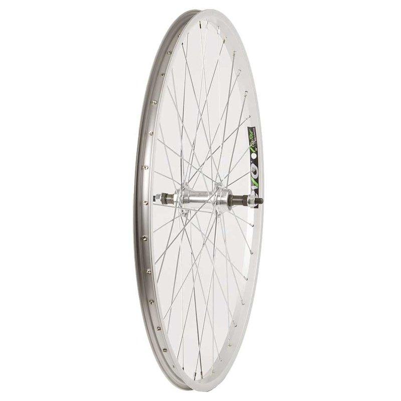 "Wheel Shop 26"" Rear Wheel Silver, Rim brakes, Freewheel"