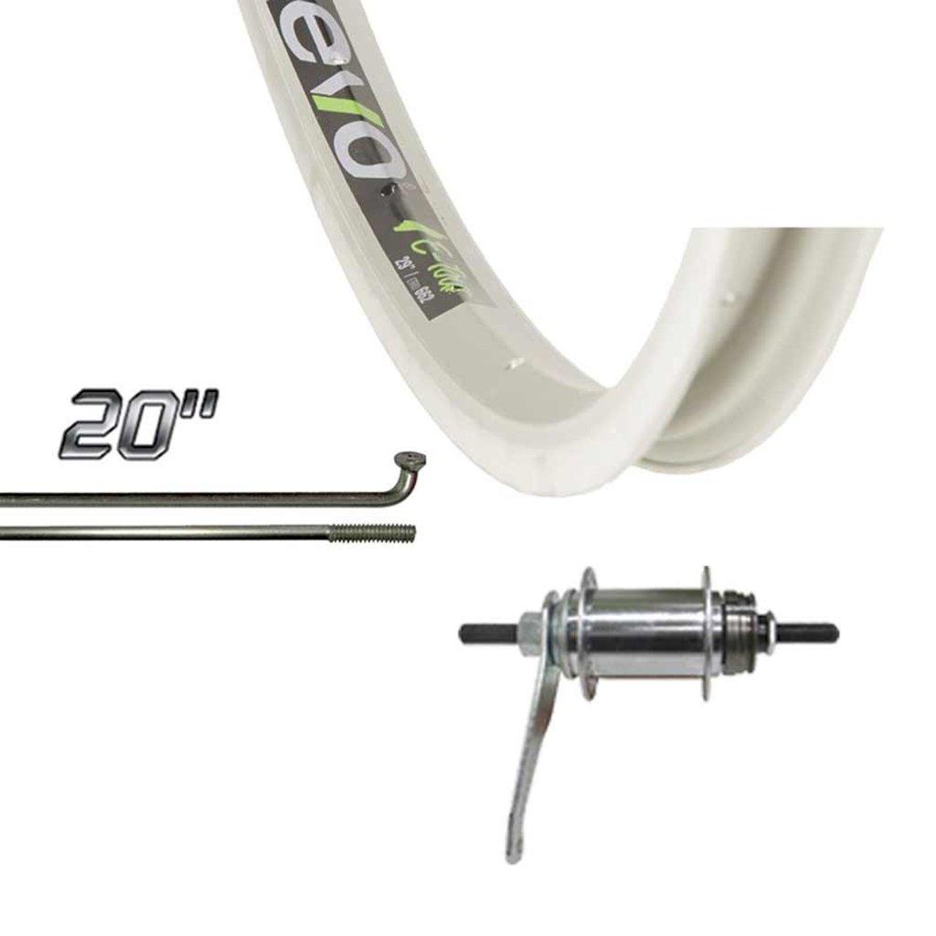 Wheel Shop Wheel Shop, Evo Tour 20 Silver/ Shimano CB-E110, Wheel, Rear, 20'' / 406, Holes: 36, Bolt-on, 110mm, Rim, Coaster