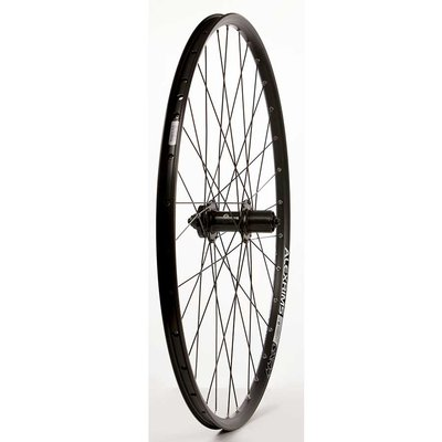 "Wheel Shop Wheel Shop, Rear 29"" Wheel, 32H Black Alloy Double Wall Alex SX-44 Disc/ Black Formula DC-22 QR 8-10spd 6 Bolt Disc Hub, DT Black Stainless Spokes"