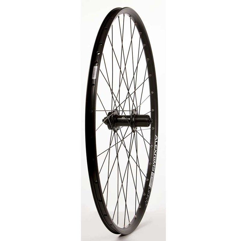 "Wheel Shop Wheel Shop, Rear 29"" Wheel, 32H Black Alloy Double Wall Alex SX-44 Disc/ Black Formula DC-22 QR 8-10spd 6 Bolt Disc Hub, DT Black Stainless Spokes"