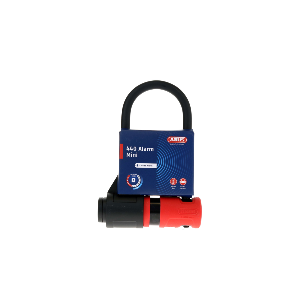 ABUS Abus, 440A Alarm, U-Lock, Key, 150x160mm, 5.9''x6.3'', Thickness in mm: 12mm, Black