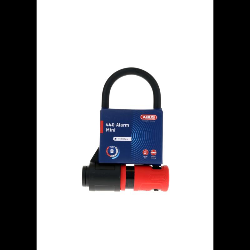 ABUS Abus, 440A Alarm, U-Lock, Key, 150x160mm, 5.9''x6.3'', Thickness in mm: 12mm, Black