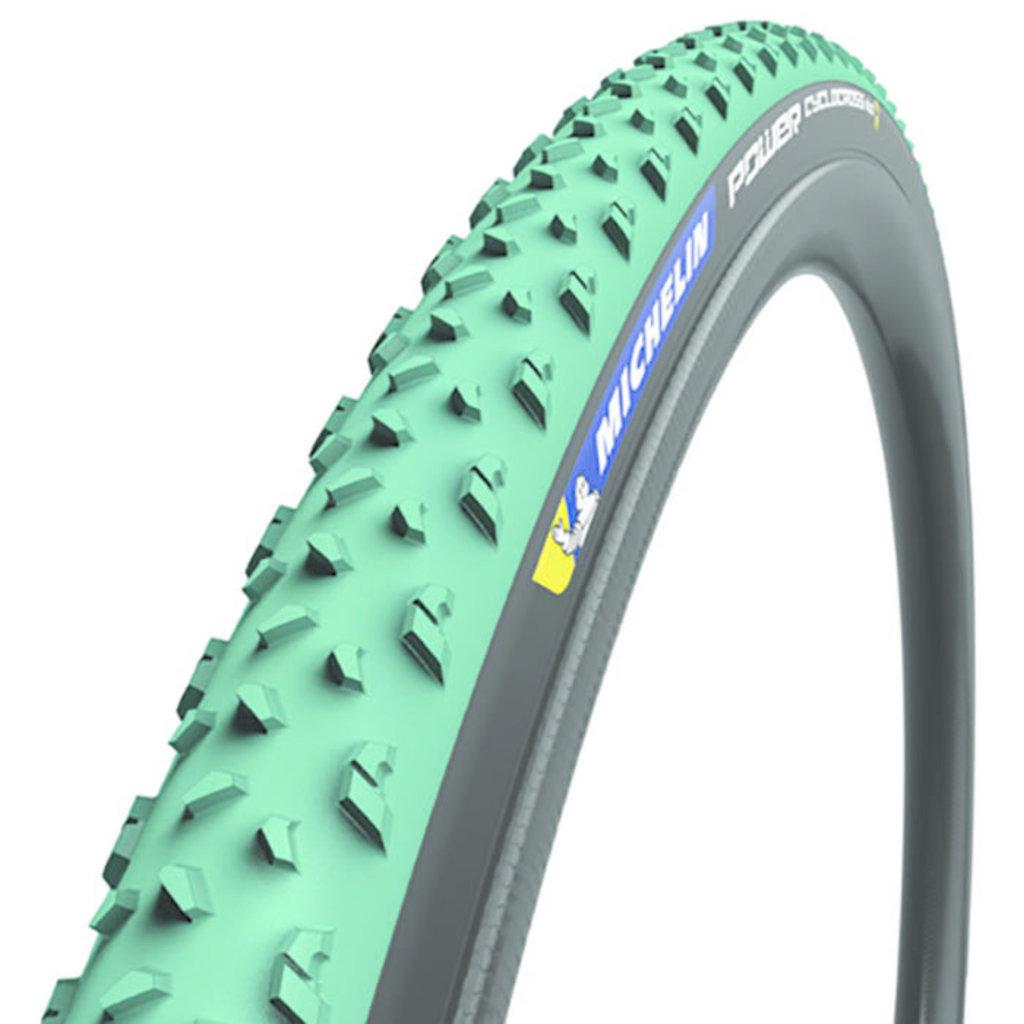 Michelin Michelin, Power Cyclocross Mud, Tire, 700x33C, Folding, Tubeless Ready, GreenCompound, Bead2Bead Protek, 3x120TPI, Green