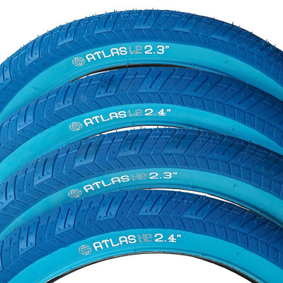 "STLNBIKES ATLAS BMX Tire 20"" X 2.3 Blue LP"