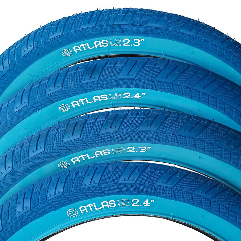 "STLNBIKES ATLAS BMX Tire 20"" X 2.3 Blue LP"