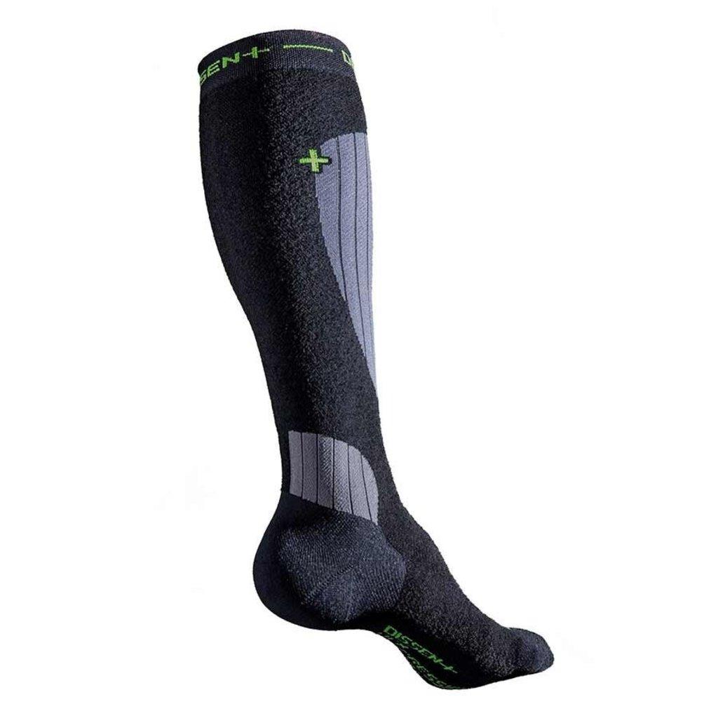 Dissent Dissent, Ski Compression Wool Socks, Black