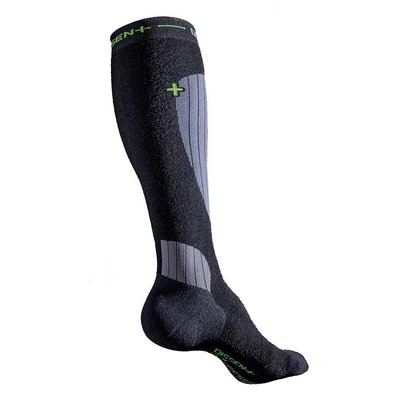 Dissent Dissent, Ski Compression Wool Socks, Black