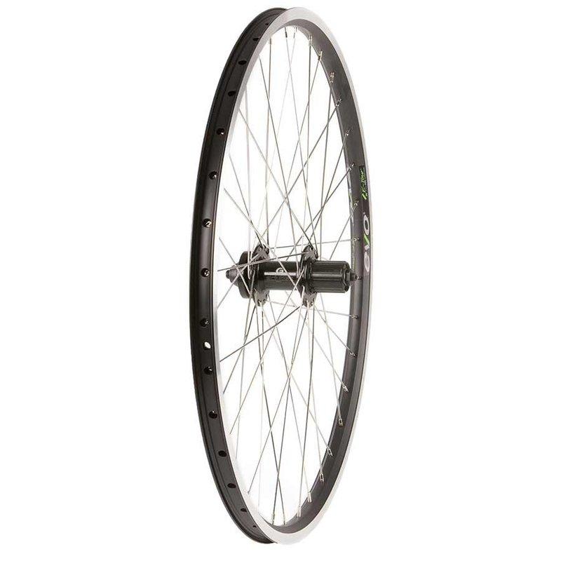 Wheel Shop Wheel Shop, Evo Tour 19 Black/ Formula DC-22, Wheel, Rear, 26'' / 559, Holes: 36, QR, 135mm, Rim and Disc IS 6-bolt, Shimano HG