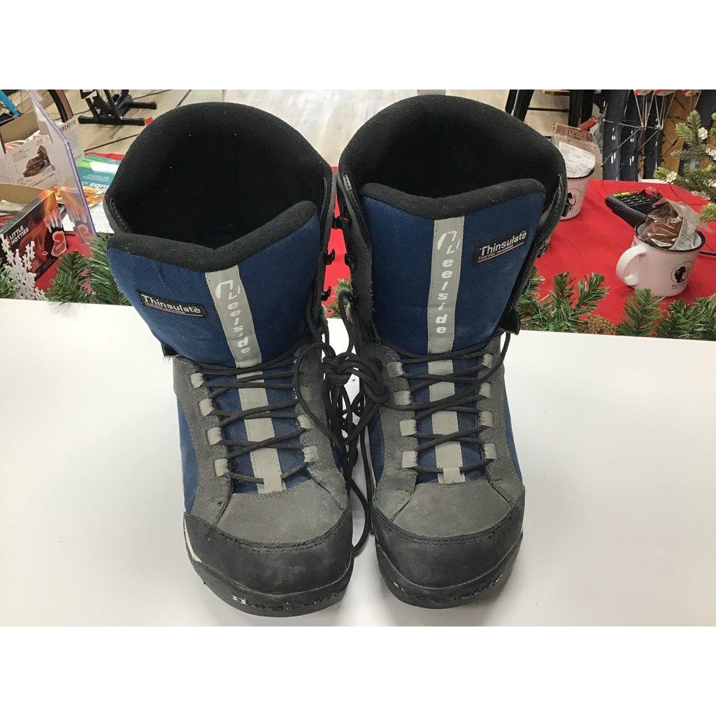 Used Snowboard Boots HeelSide Blue (Old Rental Stock) 13