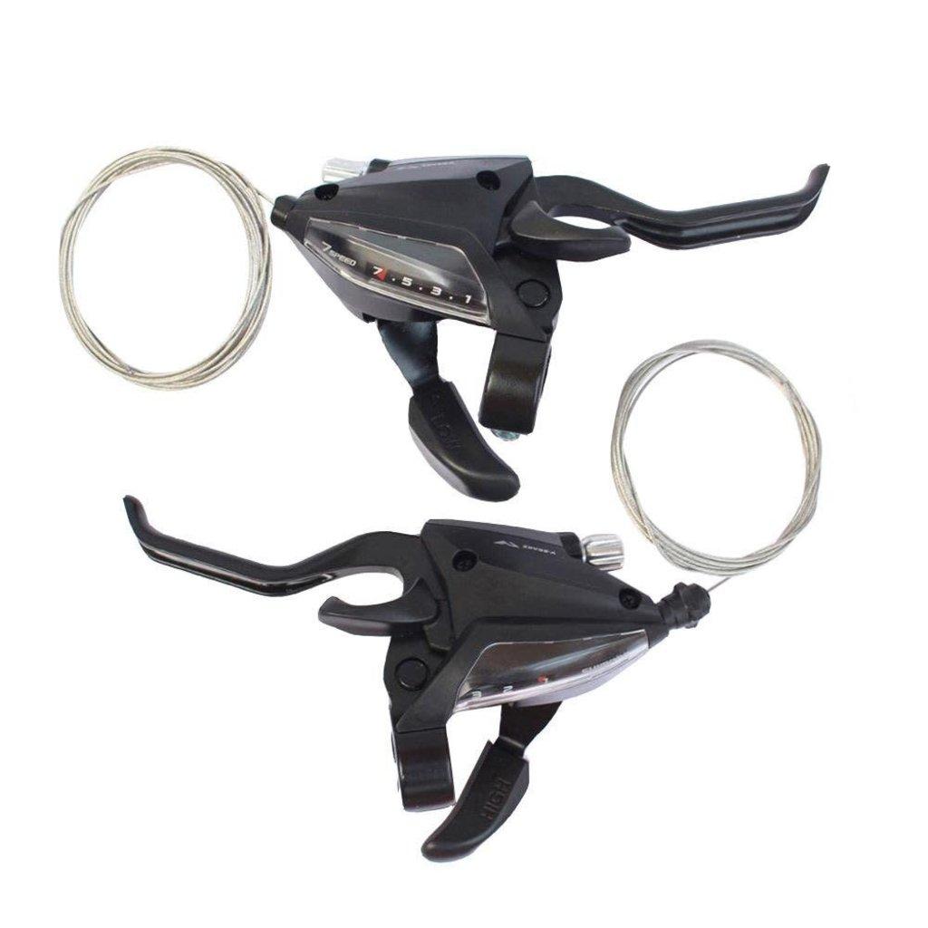 Shimano Shimano, Altus ST-EF500, Shifter-Brake Lever, Speed: 3x7, Black, Set