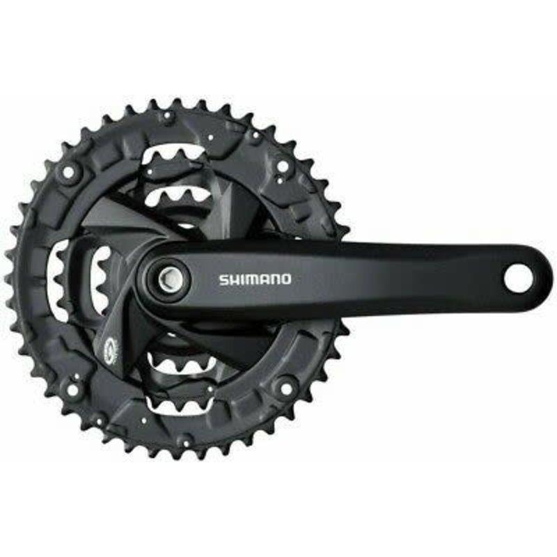 Shimano Shimano, FC-M371, Crankset, 9 sp., 175mm, 22/32/44T, BCD:64/104mm, Square, 50mm, Black