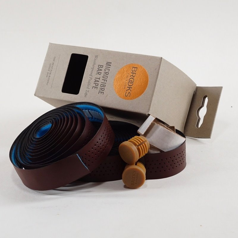 Brooks Brooks, Microfiber, Handlebar tape, 3mm padding, Antique Brown