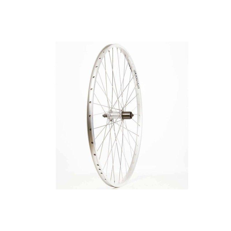 Wheel Shop Wheel Shop, Alex DM18 Silver/ Shimano Acera FH-T3000, Wheel, Rear, 700C / 622, Holes: 36, QR, 135mm, Rim, Shimano HG