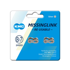 KMC KMC, Connecting Links, HG 7/8sp, 7.3mm pin width, 2 Pack