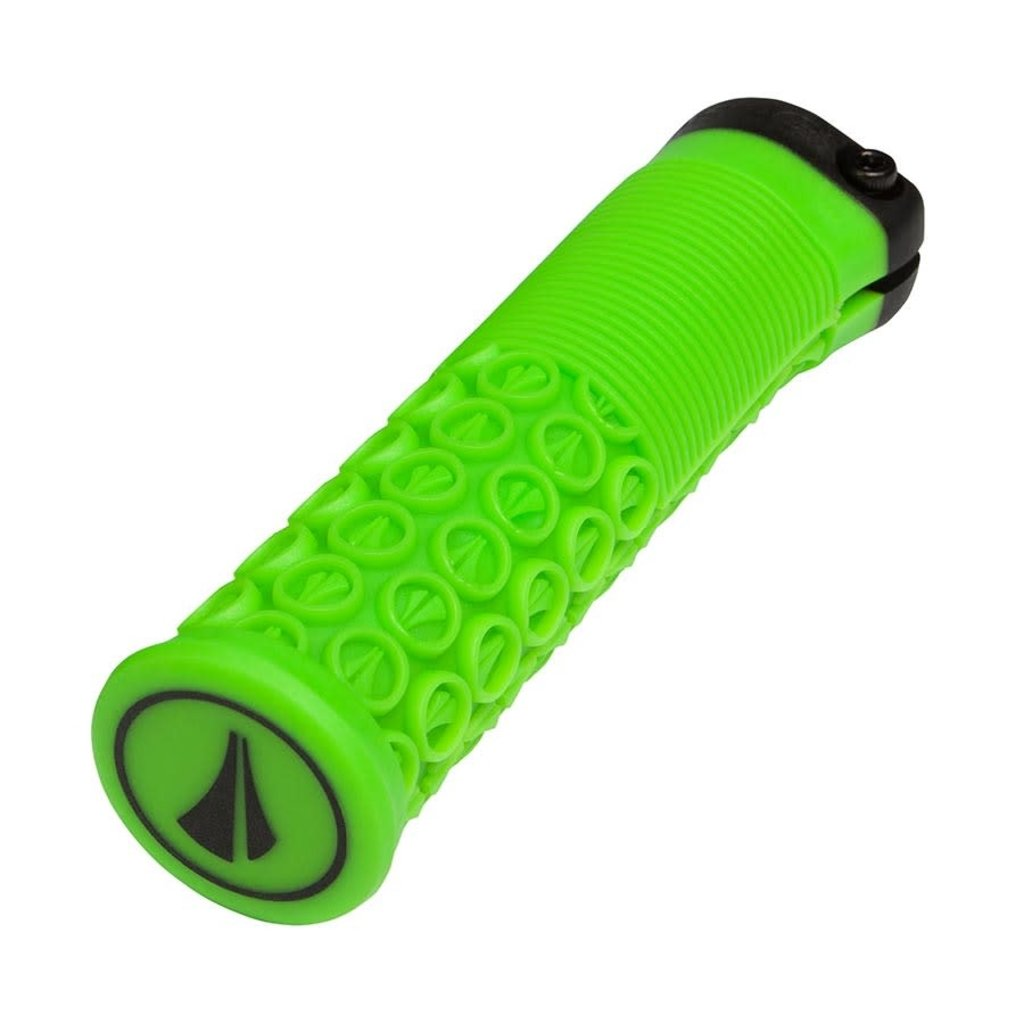 SDG Components SDG Components, Thrice 33, Grips, 136mm, Neon Green, Pair