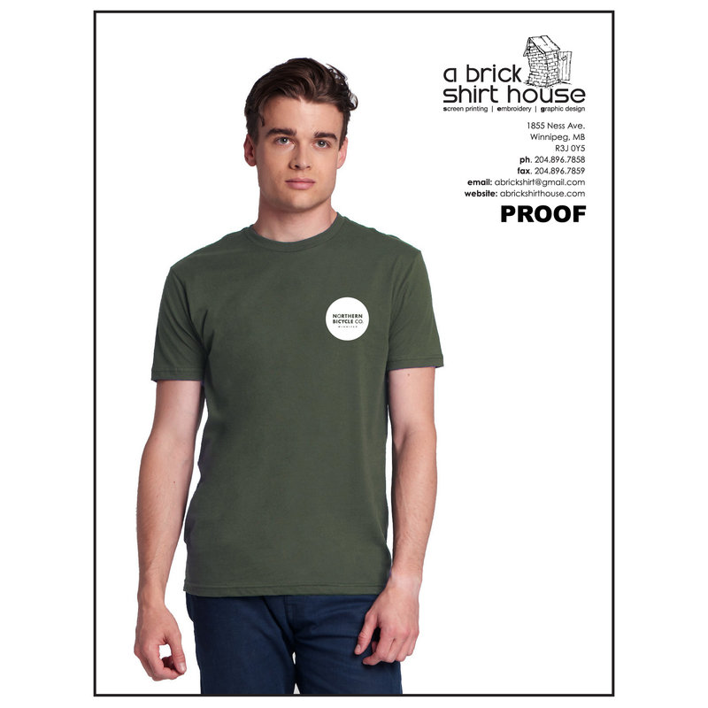 Northern Bicycle co. T-shirt, Army Green