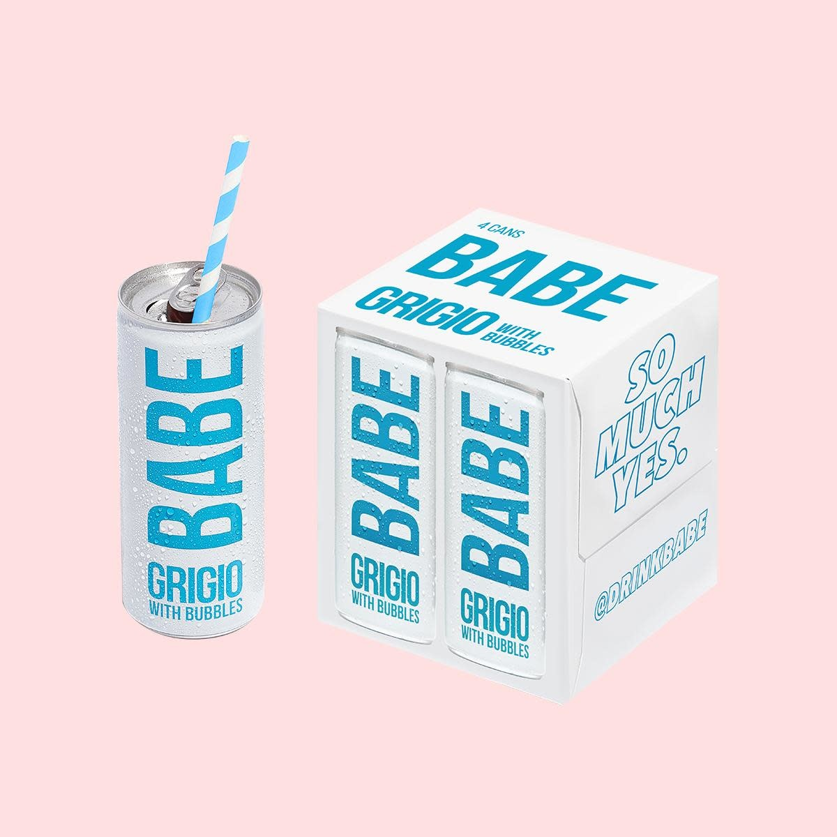 Babe Grigio With Bubbles single can