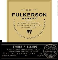 Fulkerson Winery, Riesling Sweet