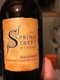 Spring Street Winery, Cabernet Sauvignon (2017)
