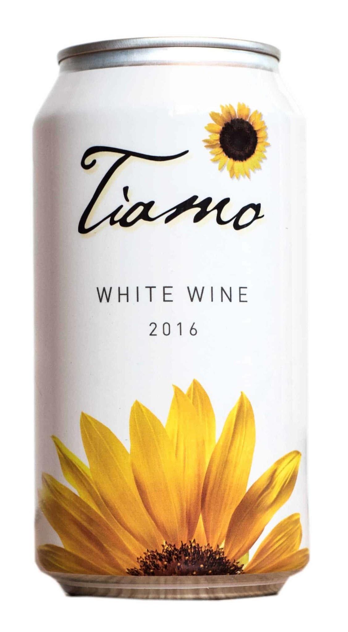 Tiamo White Wine, single can