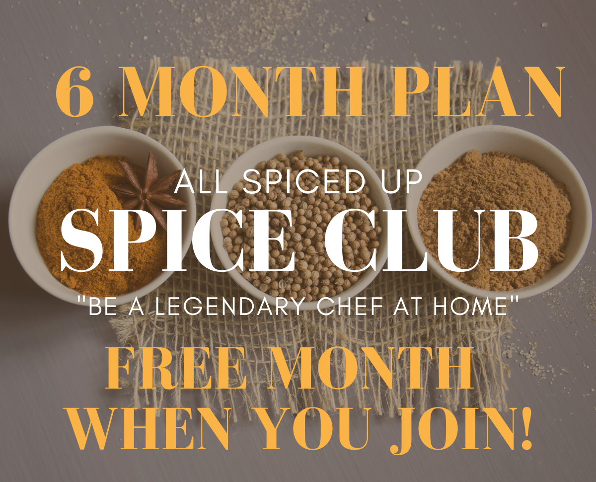 All Spiced Up Spice Club: 6 months (+ 1 month FREE)