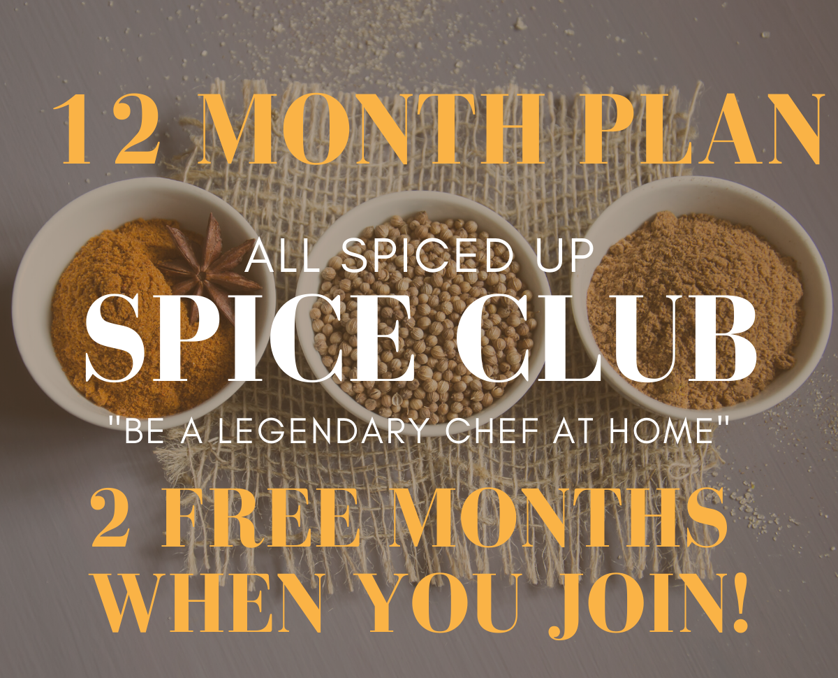 All Spiced Up Spice Club: 1 year (+ 2 months FREE)