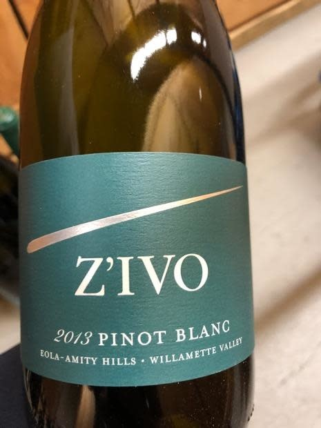 Z'ivo 2017 Pinot Blanc