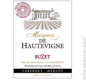 Marquis de Hautevigne, Buzet Cabernet Merlot (2018)