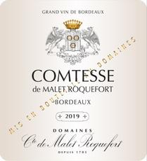 Comtesse De Malet Roquefort, Bordeaux Blanc