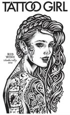 Tattoo Girl, Red Wine (2018)