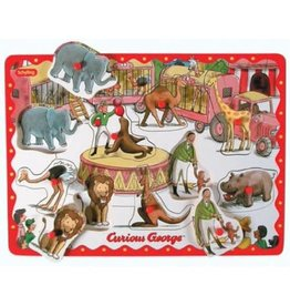 Curious George Wooden Peg Puzzle