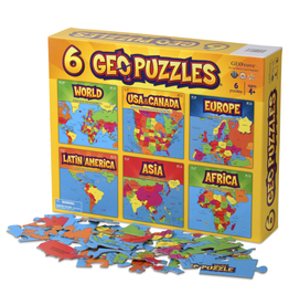 6 Geo Puzzles In One Box