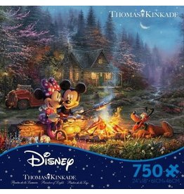 DISNEY Disney Thomas Kinkade: Mickey And Minnie Sweetheart Fire Puzzle 750pc