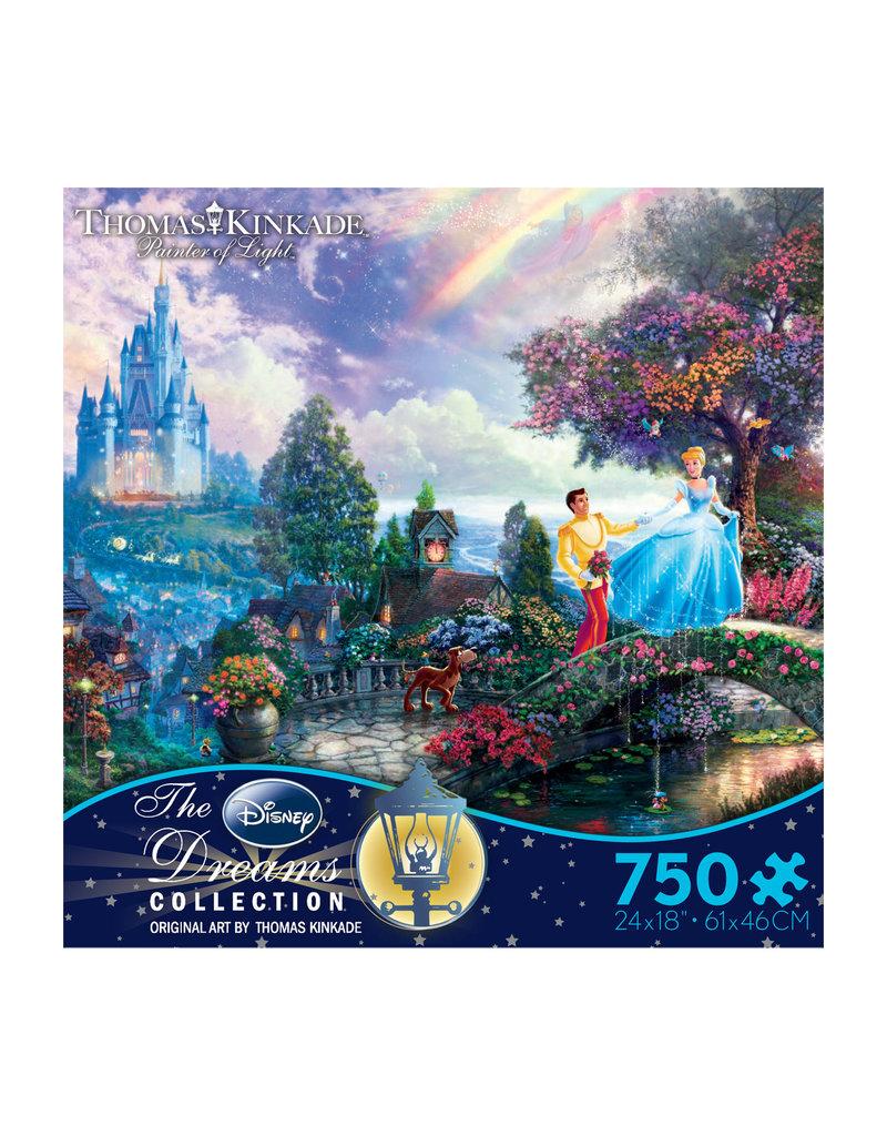 DISNEY Thomas Kinkade Disney Dreams: Cinderella Wishes Upon a Dream - 750pc Jigsaw Puzzle