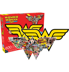 DC COMICS Wonder Woman Logo - 600pc Double-sided Shaped Jigsaw Puzzle