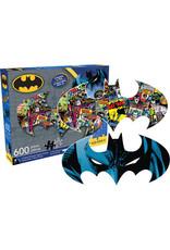 DC COMICS DC Comics Batman Logo & Collage Double Sided 600pc Puzzle