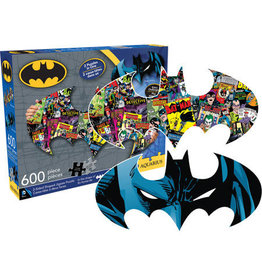 DC COMICS DC Comics Batman Logo & Collage Double Sided 600pc Puzzle