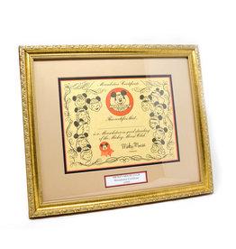 DISNEY Mouseketeer Certificate