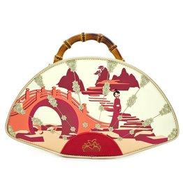 LOUNGEFLY Loungefly Mulan Bamboo Handle Fan Handbag