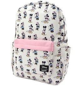 DISNEY Loungefly Pastel Minnie Mickey Nylon Backpack