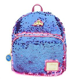 LOUNGEFLY Sleeping Beauty Reversible Sequin Mini Backpack