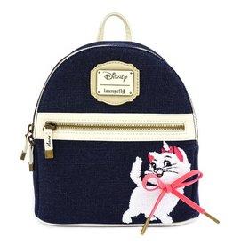 DISNEY Loungefly Marie Denim Mini Backpack