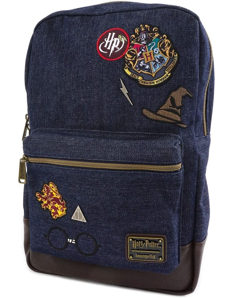 LOUNGEFLY Loungefly Harry Potter Denim Backpack